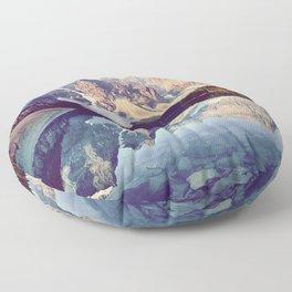 Moraine Lake Reflection Floor Pillow