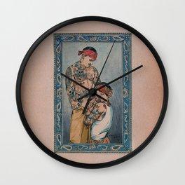 Los Cholos 2 Wall Clock
