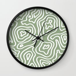 Topographic Abstract | Sage Wall Clock