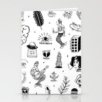 tattoos Stationery Cards featuring Flash Tattoos by Hamburger Hands