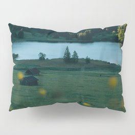 Sunrise at a mountain lake with forest - Landscape Photography Pillow Sham