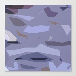 Fragmented Violet Canvas Print
