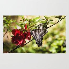 Butterfly on an Azalea Rug