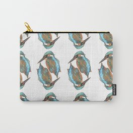 Kingfishers Pattern Carry-All Pouch