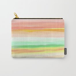 New World Desert Horizons in Peach, Gold and Green Carry-All Pouch