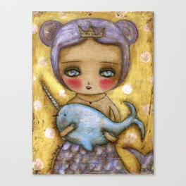 Narwhal Love Canvas Print