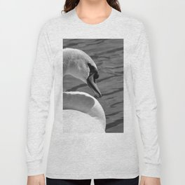 Sunning Swan by Teresa Thompson Long Sleeve T-shirt