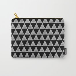 stamped triangles on black Carry-All Pouch