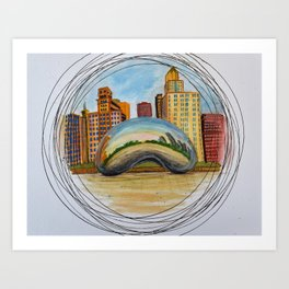 Cloud Gate, Chicago Art Print