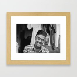Indonesian Smile Framed Art Print