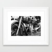 motorcycle Framed Art Prints featuring motorcycle by Falko Follert Art-FF77