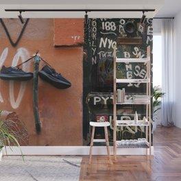 Shoe Parking Wall Mural