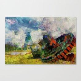 Scattered Remains, Scattered Lives Canvas Print