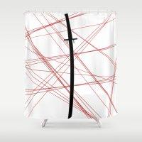 kill la kill Shower Curtains featuring Kill La Kill - Bakuzan by joyeuse