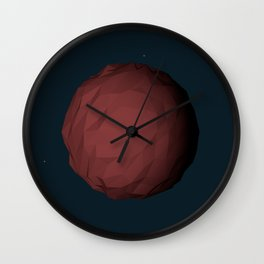Planet Mars Low Poly Wall Clock