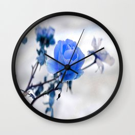 Blue Rose Simplicity Wall Clock