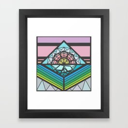 The Square of a Sunset Framed Art Print
