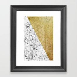 Marble vs GOld Framed Art Print