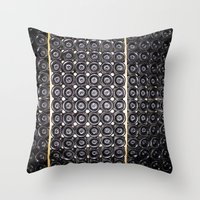 wine Throw Pillows featuring Wine by Alev Takil