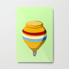 Yellow Top Metal Print