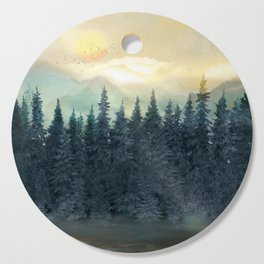 Forest Under the Sunset II Cutting Board