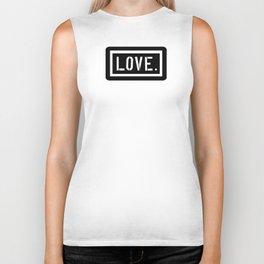 Love Stencil Biker Tank