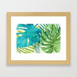 Rainforest Canopy Tropical Leaves Framed Art Print
