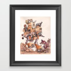 The Big Bad Mega Mech Framed Art Print
