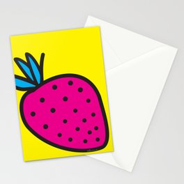Strawberrious - Magenta/YELLOW Stationery Cards