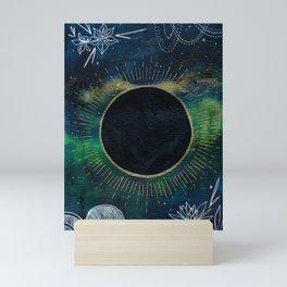 New Moon Original Mixed Media Painting Mini Art Print