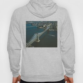 Brooklyn Bridge Aerial Photograph Hoody