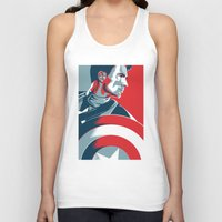 avenger Tank Tops featuring The First Avenger by Olivia Desianti