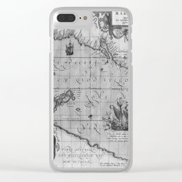 Old World Map print from 1589 Clear iPhone Case