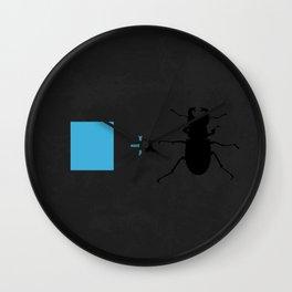 Blue Beetle Wall Clock
