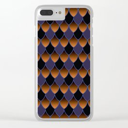 Squama Fhish Dark Pattern Clear iPhone Case