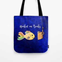Hooked on Books Tote Bag