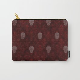 Victorian Skulls Red Carry-All Pouch