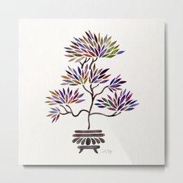 Bonsai Tree – Vintage Palette Metal Print