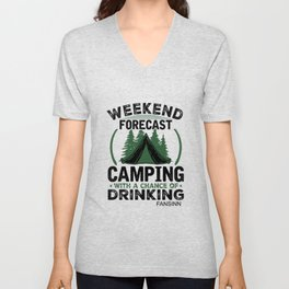 Camping tents recreation gift Unisex V-Neck