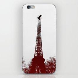Bird on the tower iPhone Skin