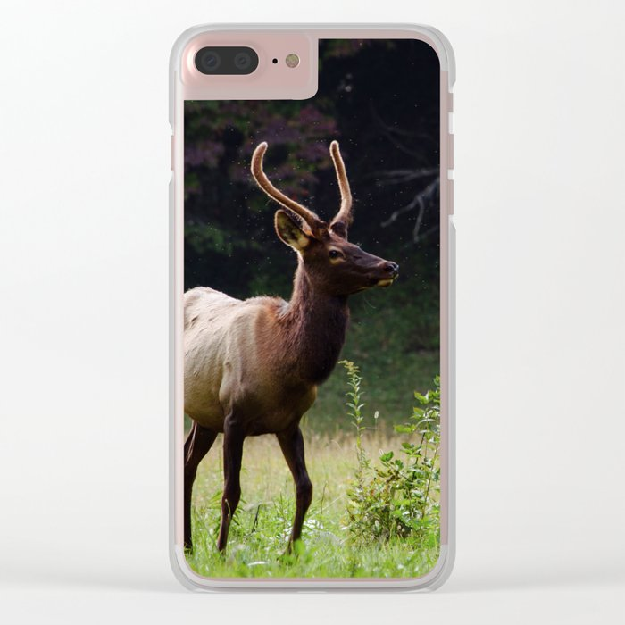 Deer Forest Clear iPhone Case