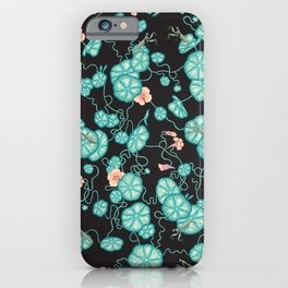 Mantises and Indian cress iPhone Case