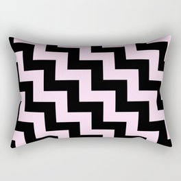 Black and Pink Lace Pink Steps LTR Rectangular Pillow