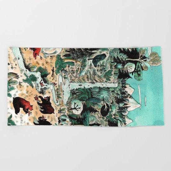 Wild Canada Beach Towel