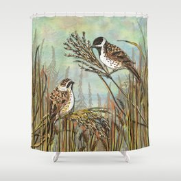 Reed Buntings Shower Curtain