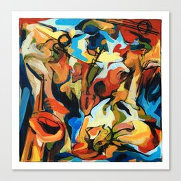 Abstract Musicians Painting Canvas Print