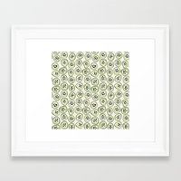 kiwi Framed Art Prints featuring Kiwi by Valendji