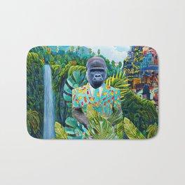 Gorilla in the jungle Bath Mat