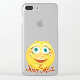 Just Smile :) Clear iPhone Case