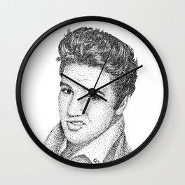 Elvis (Pointillism) Wall Clock
